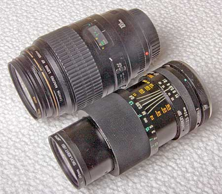 Canon and Tamron macro lenses