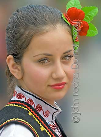 rose festival dancer - digital photo by john rocha