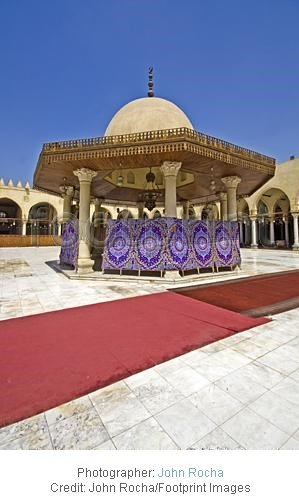 Amr Ibn El-Aas mosque courtyard in Cairo in Egypt stockphoto by john rocha
