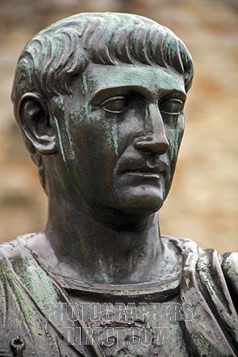 Portrait of the Emperor Trajan stockphoto by John Rocha