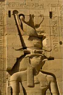 _MG_7661 bas relief of Horus stock photo of Egypt by John Rocha
