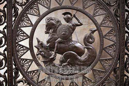 Detail from the gates at Marble Arch in London stockphoto by John Rocha