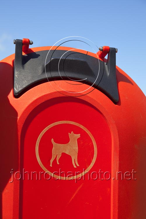 Bright Red Dog Waste Bin