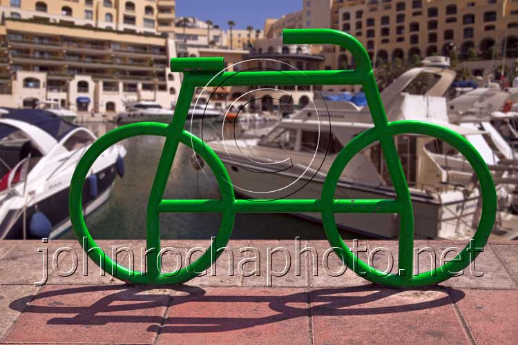Green Tube Bike by the Harbour in Malta