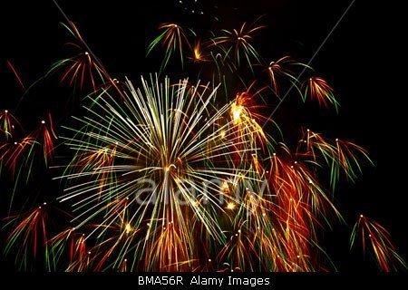 fireworks in Mosta in Malta stockphoto by John Rocha