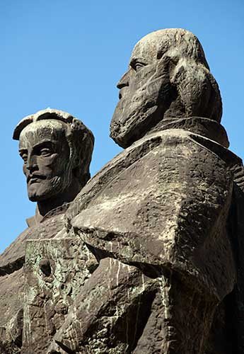 Cyril and Methodius outside the National Library in Sofia, Bulgaria, Stockphoto by John Rocha