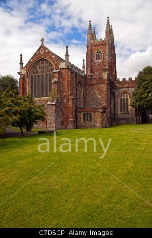 The Parish Church of St Mary in Totnes. Devon, stockphoto by john rocha at johnrochaphoto.net