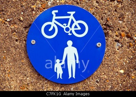 cyclists and pedestrians on the seafront in Herne Bay stockphoto by john rocha