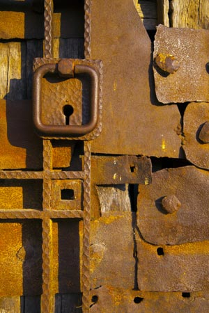 Detail of a door of the 10th century castle in Vidin, Bulgaria by john rocha at johnrochaphoto