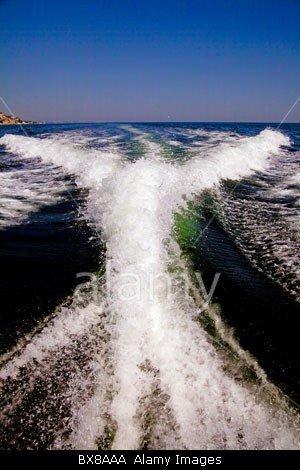 Cabin Cruiser Wake in Balchik Bulgaria