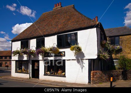 The No Name Shop Building in No Name Street in Sandwich, Kent in England