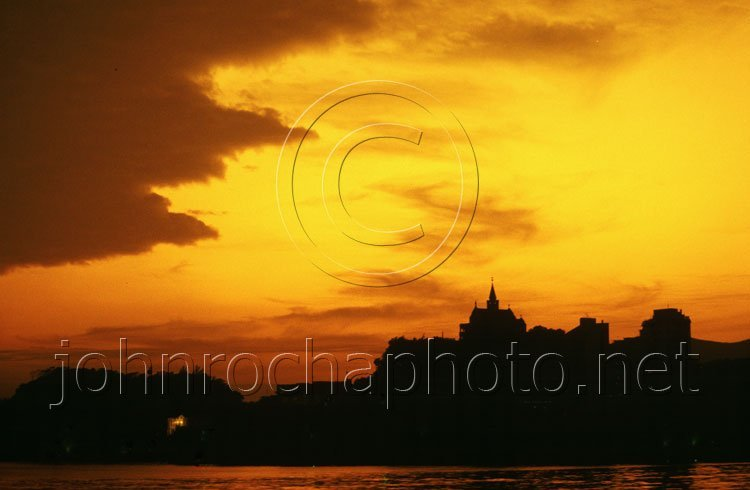 Sunset Over Macau in the South China Sea Photo by John Rocha at johnrochaphoto.net