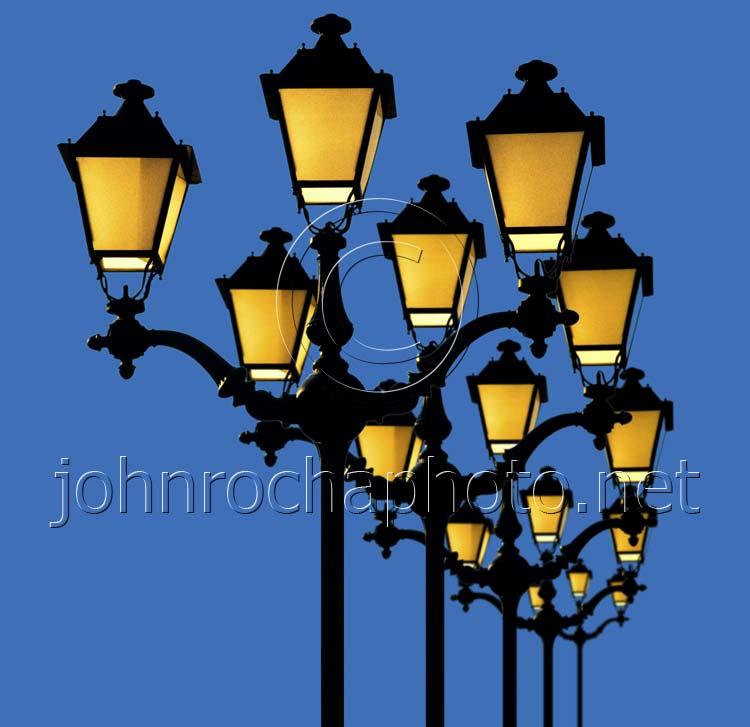 Spanish Street Lights in the Evening