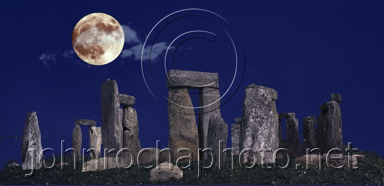 Standing Stones Under the Moon Photo by John Rocha at johnrochaphoto.net