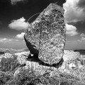 Great Stone on Vitosha Mountain, Bulgaria the beauty of black and white