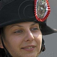 Young Woman in an Italian Soldier's Hat Portraits From Bulgaria