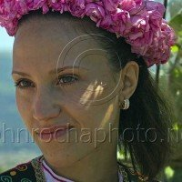 Rose Festival Dancer Resting Portraits From Bulgaria