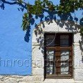 Thassos Blue Wall and window with Vines