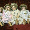 Daisy, Ida, Phyllis, Charlotte bisque head dolls