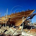 Unfinished Dhow in Sur Shipyard Oman