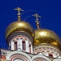 Golden Domes of Shipka Church in Bulgaria