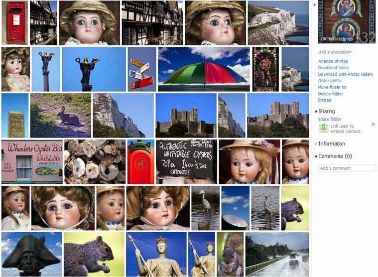 Microsoft Skydrive thumbnails at johnrochaphoto.net