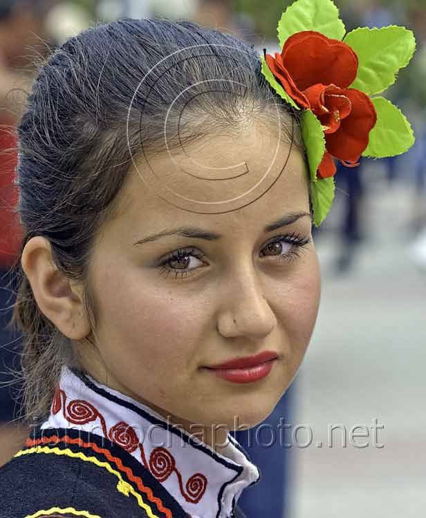 Folk Dancer with a Rose in her Hair Portraits From Bulgaria